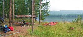 Стоянка напротив озера Арбакалир