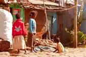 Одна из второстепенных улиц Аддис-Абебы