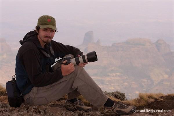 Семен на вершине плато Гого, 3926 метров