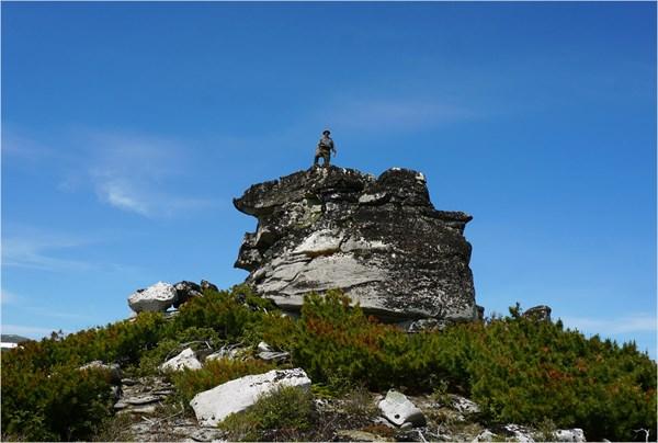 На вершине Николаевского останца