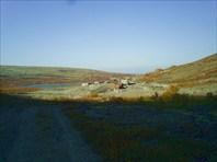Вид на рудник со стороны плато