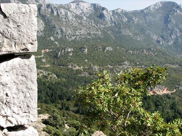 Вид на стелу у села Туджемили.