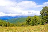 Вид с перевапла Арой на долину реки Чуя.