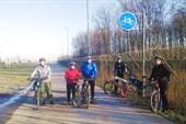 Начало Колпинской велодорожки