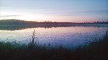 Озеро у ст. Торбино вечером