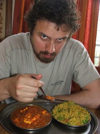 тяжелая индийская пища