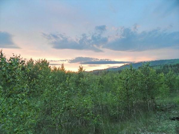 Закат у горы Кырын.