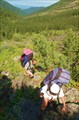 Подъём к перевалу на оз. Туристское