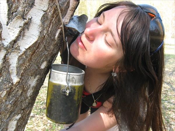 берёзовый сок сладкий