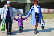 С бабушкой и тетей