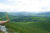 Вид с Мангупа на Новоульяновское водохранилище