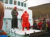 Короткая лекция с демонстрацией о том, как спастись в ледяной во