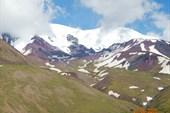 Вид на Эльбрус с запада