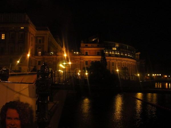 Стокгольм ночью.