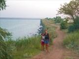 Дамба через Сакское озеро, Саки