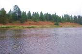 Река Мыла в двух километрах выше деревни