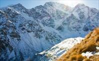 """""""Семерка"""" вид с Чегета. Внизу - ледник Донгузорун"""