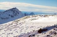 Ледник Азау, вид с `Бочек`
