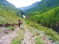 Начало пути - по дороге к мосту через Чую