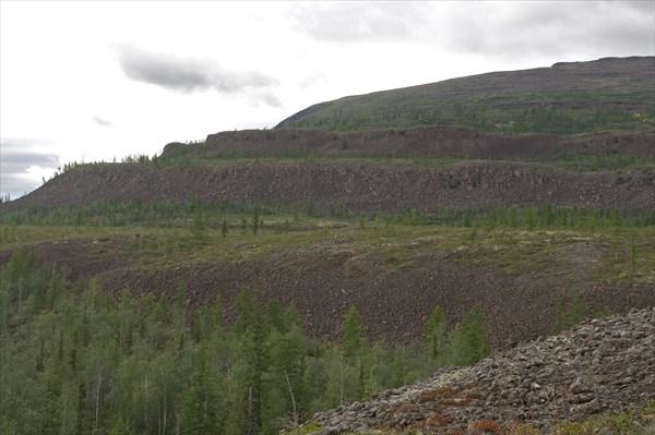 Террасы на перевале Орокан