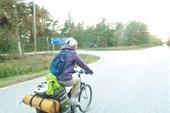 Велотуристка