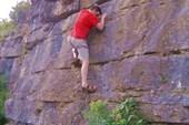 Да-а, это не Столбы... Дмитрий Панченко на скале.