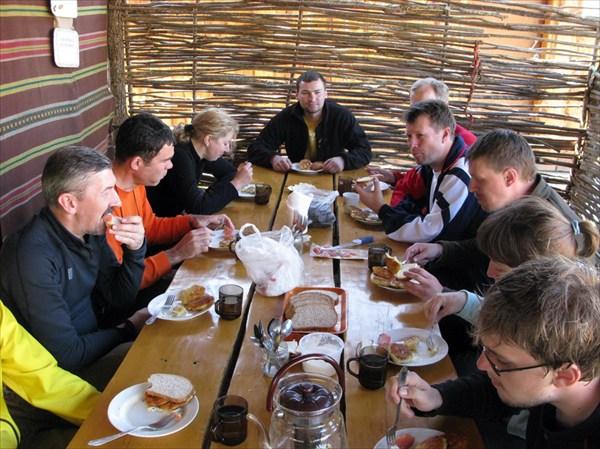 Ужин в Баштановке.