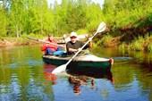 Река Гусь. Май, 2008. Самая безбашенная байдарка.