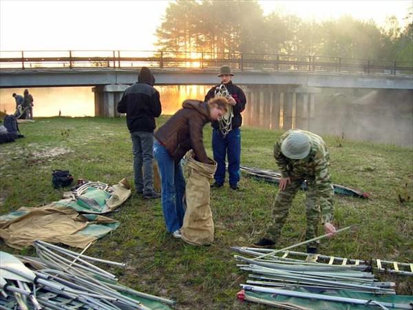 Река Гусь. Май, 2008. Сивцевский мост – точка старта.