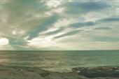 Пляж Bunes вечером