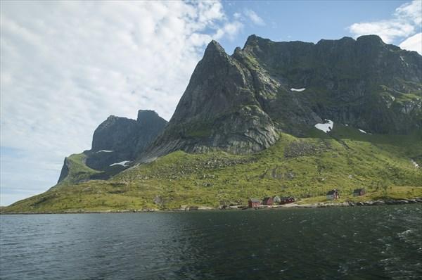 Фьорд около Reine