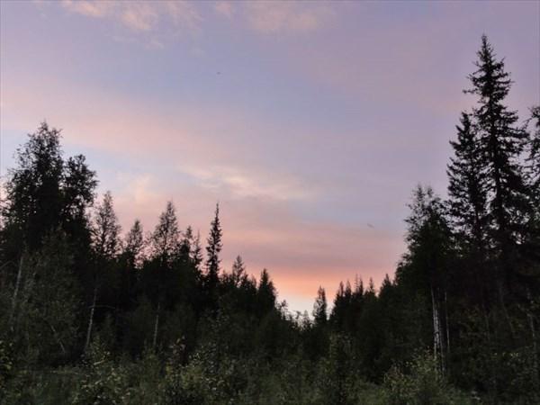 Закат на Волье.