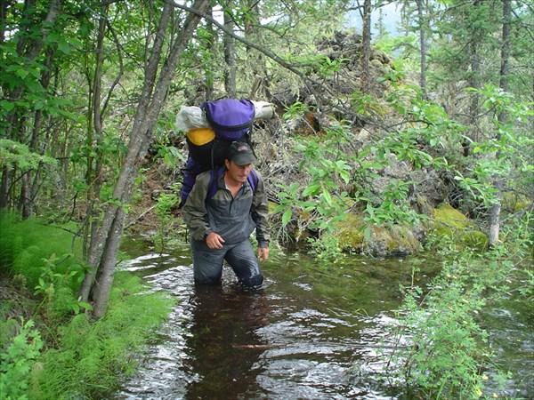 Андрей пешком по воде.