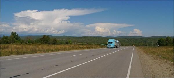 """Федеральная трасса """"АМУР"""" недалеко от поворота на п.Кульдур"""