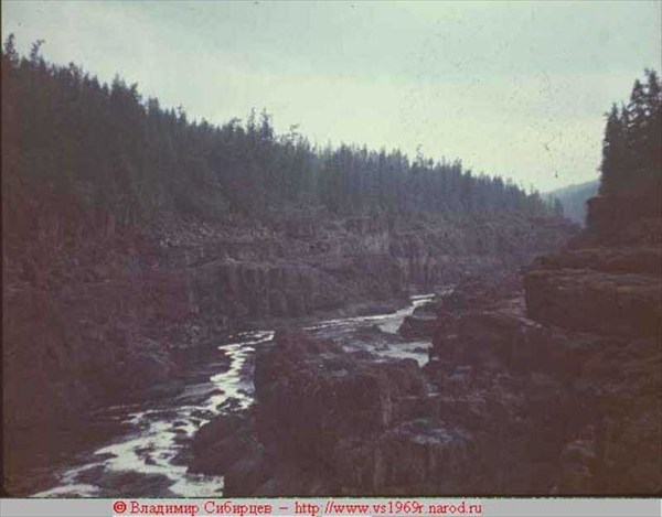 2-й каньон на р.Курейка