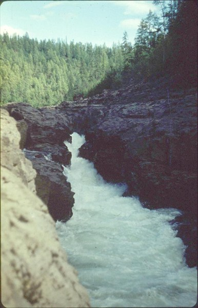 1-й водопад на р.Курейка (06.08)