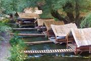 Ресторан на реке у деревни Белисырма