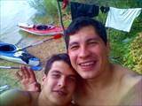 Я и брат мой Сева на Рузском водохранилище