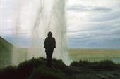 На тропинке за водопадом Сельяландсфосс
