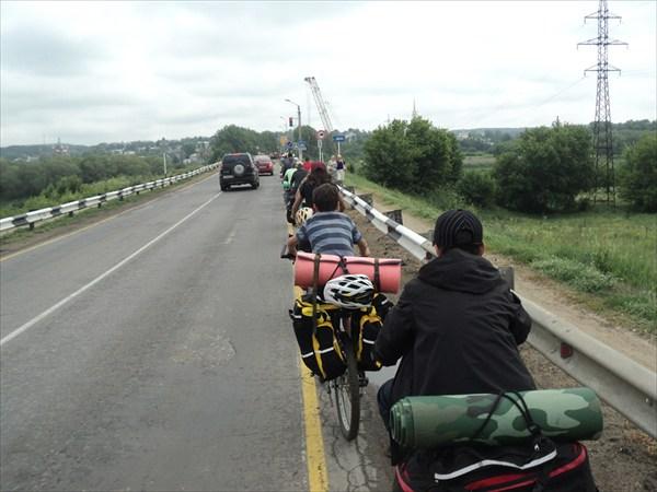 Въезд в Задонск по мосту через Дон