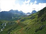Путь подъема к перевалу Миронова