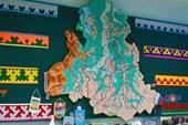 Карта ЯНАО в музее Пангоды