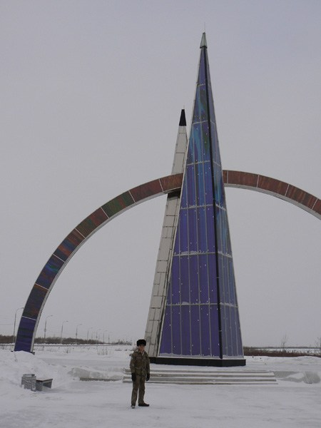 на фото: Полярный круг Салехард