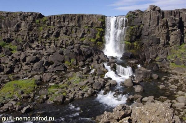 Водопад Oxararfoss