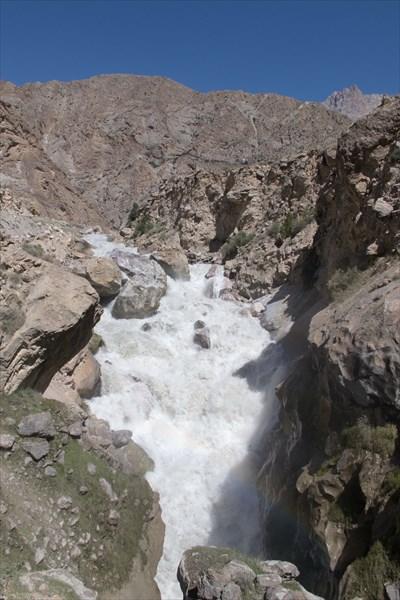 Водопад на Ягнобе