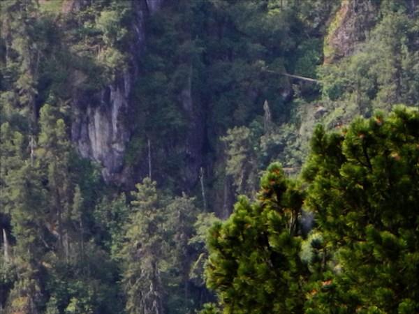Возможные входы на левом борту Калычака.