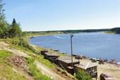 Вид с крутого берега в Сосьве.