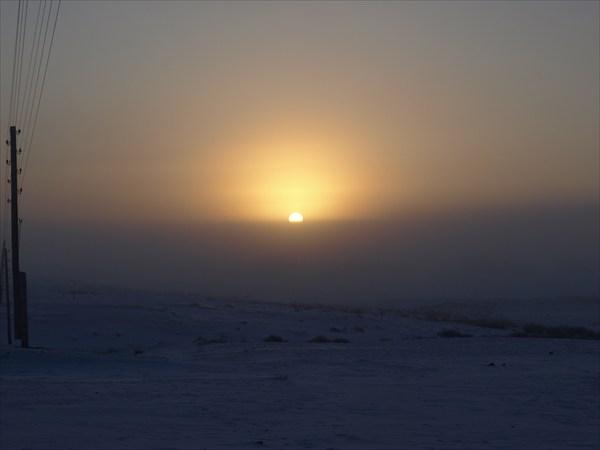 Рассвет в Чуйской степи