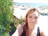 Надежда на пляже в Пицунде