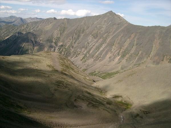 Вид с перевала на долину р. Гольцового